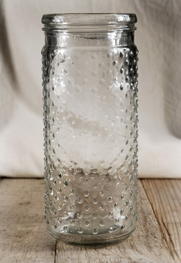 Hobnail Jar Candle Holder 9-1/4in