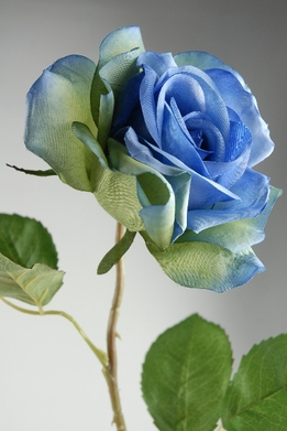 "<font color=""red""><b>HOT BUY!</b></font> Blue Silk Roses ( 3-1/2"" rose head)"
