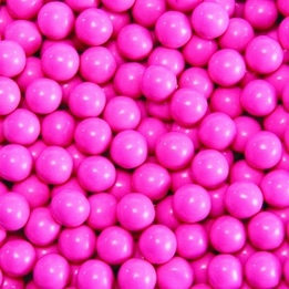 Hot Pink Sixlets Favor Candy 14oz