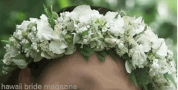 "How to make a floral garland headpiece or ""haku"""