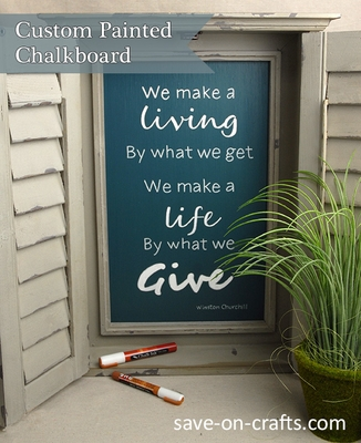How to Paint a Chalkboard with Shabby Chic Chalk Style Paint