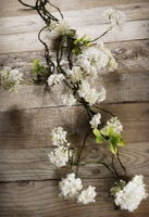 Hydrangea Garlands Silk 32 in. White Flowers