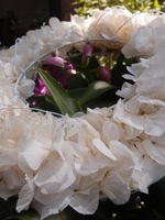 Hydrangea Wedding Wreath Preserved Cream White Flowers 6.5""