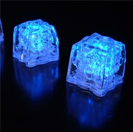 "Ice Cubes Lights Premium LED 1.5"" Blue 3- Mode (8 ice cubes)"