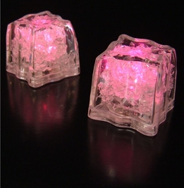 "Ice Cubes Lights Premium LED 1.5"" PInk 3- Mode (8 ice cubes)"