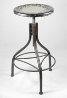 "Industrial Metal Stool 28"" Grey"