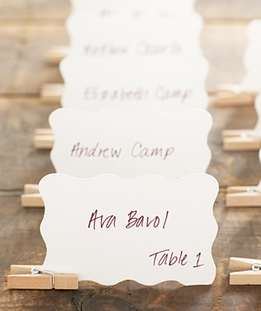 Invitation and Place Card Supplies