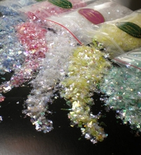 Iridescent Flakes 5 colors Clear, Lemon Ice, Raspberry Crush, Mint Green & Icy Blue
