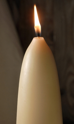 Ivory/ Cream and Brown Candles
