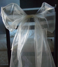 Ivory Organza Chair Sashes (Pack of 10)