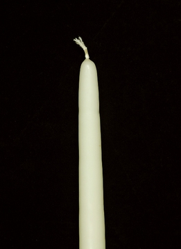 "Ivory Tapers 15"" tapered candles (cotton wicks)"