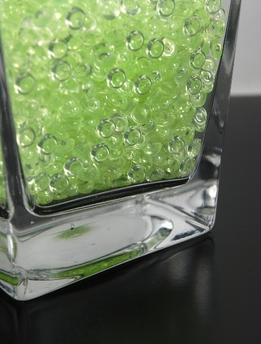 Key Lime Green Rain Drops Vase Filler Gems 2 Cups By Volume