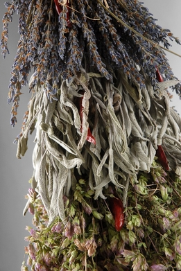 "Kitchen Braid 20"" Herbs with Chili Peppers (organic- air dried)"