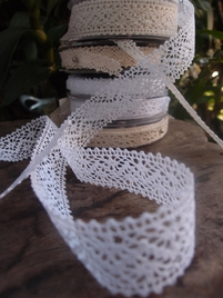 "L�beck Needle Lace 1"" x 10 yards White"