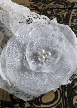 Lace Shabby Chic Handmade Rose Wedding Garter