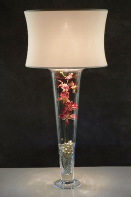 Lampshade Lights to add to fluted vases