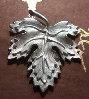 "Large 2"" Pewter Maple Leaf"