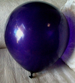 "Large Crystal Dark Purple Balloons 17"" Helium Quality"