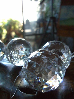 Large Weighted Acrylic Crystal 2in Spheres