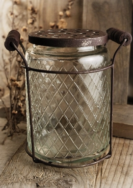 Lattice Glass Potpourri Jar