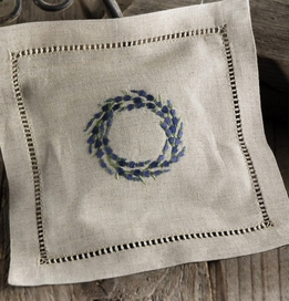 Lavender Sachet French Lavender 6x6 Embroidered