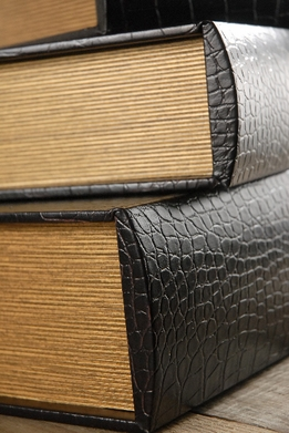 Leather Book Boxes (Set of 3)