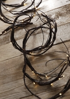 LED Branch Garland | 60 Warm White Bulbs