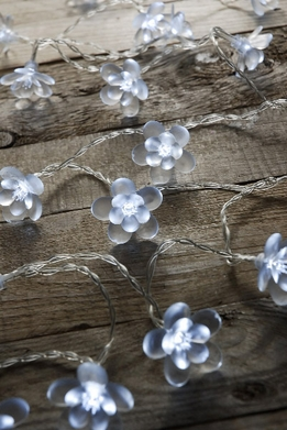 LED Cherry Blossom String Lights 20 Flowers | Cool White
