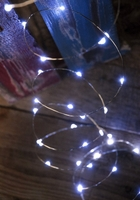 Gerson 38654 - 60ct Cool White Fairy Light LED - 10' Silver Wire