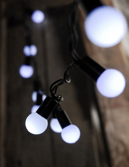 LED Globe String Lights | Cool White