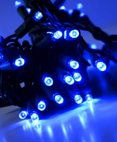 LED String Lights 70 Blue LED 23 Feet Green Cord