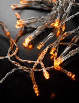 LED String Lights Battery Operated | Amber