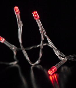 LED String Lights Battery Operated | Red