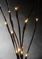 "LED White Lights on Brown Branches 39"" Battery Operated (6 stems)"