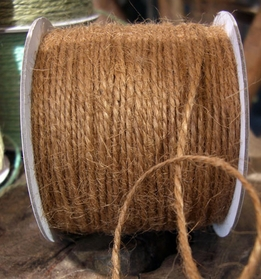 Jute Twine Cording Light Brown 100yd