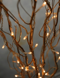 Gold Willow Branches with Lights 39in