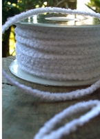 Lightly Wired White Chenille 55 yards