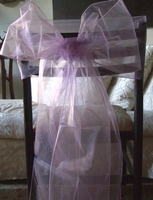 Lilac Organza Chair Bows (Pack of 10)