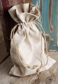 Linen Favor Bags With Drawstring 6in x 10in (Pack of 12)