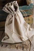 Linen Favor Bags with Drawstring 10in x 12in