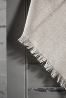 Linen Napkins with Fringe Edge 16in Square (Pack of 12)