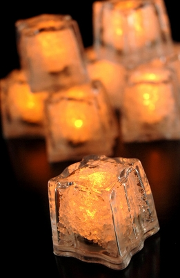 Lite Ice Cubes Yellow Amber 3 function- (8 cubes)
