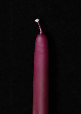"Magenta 15"" taper candles (cotton wicks)"