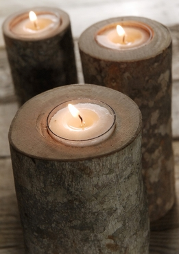 "Maple Branch 6"" Tealight Holders"