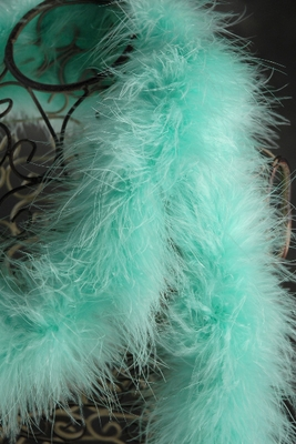 Marabou Feather Boas Aqua 25 gram