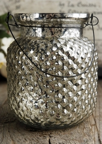 Mercury Glass Candle Holder Vase