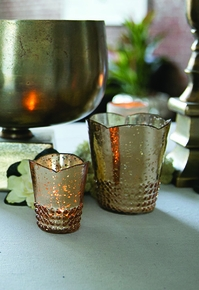 Mercury Glass Candle Holders - Click to enlarge