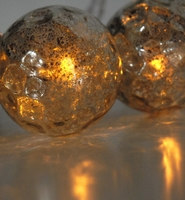 Mercury Glass Globe LED Solar String Lights