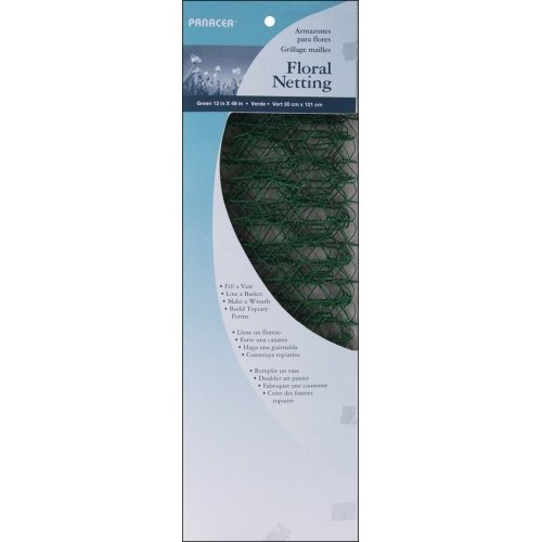 "Mesh Wire Floral Netting 12""X48"" 1/Pkg-Green - Click to enlarge"