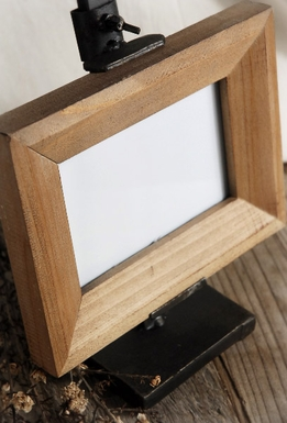 "Metal Adjustable 12"" Easel and Wood Frame"